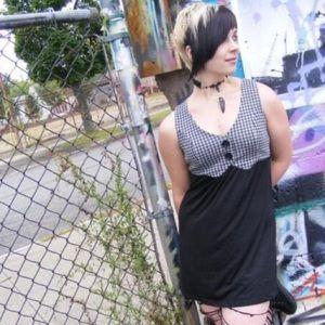 🖤SOLD🖤Rocker Girl Houndstooth Dress